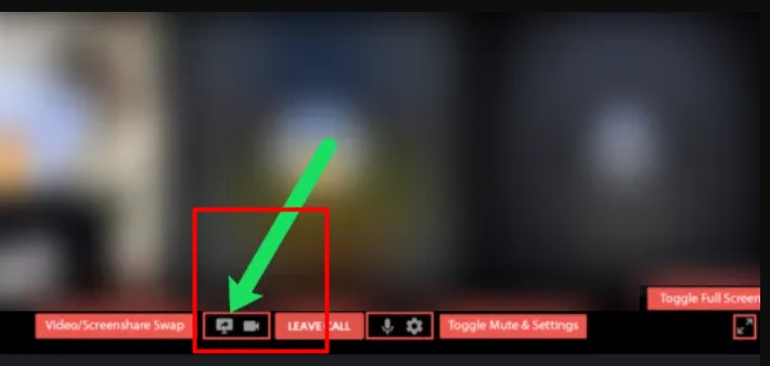 tab to screen share icon
