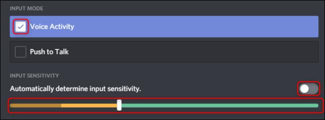 Voice Activity in discord