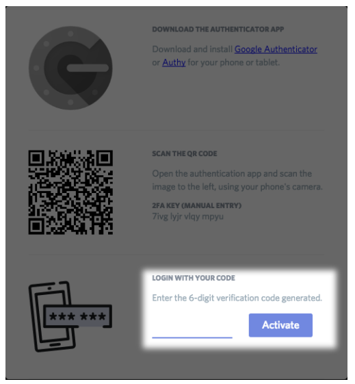 Type the Token and Activate